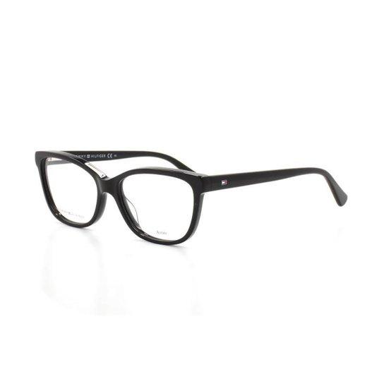 bffc3928b Armação De Óculos De Grau Tommy Hilfiger 1531 T 54 C 807 Gatinho - Preto