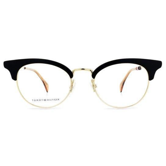 be9a670c3 Óculos de Grau Tommy Hilfiger TH Feminino - Preto | Zattini