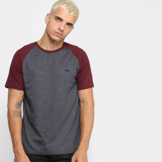 f5525a3fafa9f Camiseta Quiksilver Especial Everyday Raglan Masculina - Preto ...