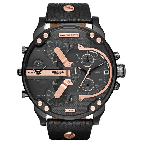 fb9e5402a20 Relógio Diesel Pulseira Couro - Compre Agora