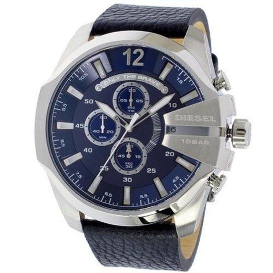 77e02c083eb Relógio Diesel DZ4423 0AN 52mm Pulseira Couro - Compre Agora