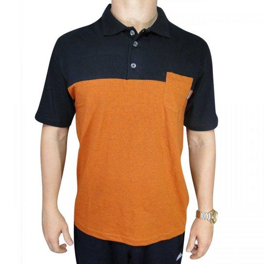 9c52b6c9af Camisa Polo Code Skt - Laranja e Preto - Compre Agora