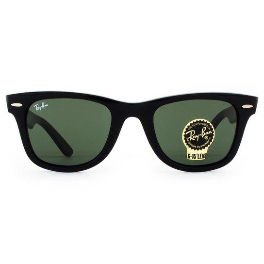 bc603927ffd80 Óculos de Sol Ray Ban Wayfarer Classic RB2140 901-50 Masculino - Preto