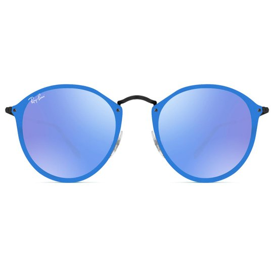 493a776066153 Óculos de Sol Ray Ban Blaze Round RB3574N 153 7V-59 - Preto - Compre ...