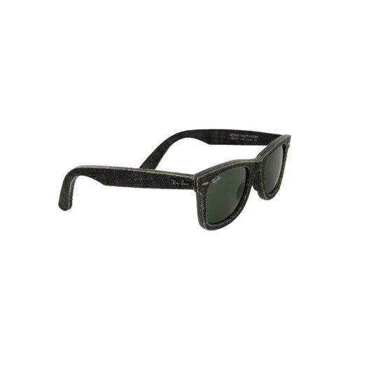 b83647fb760ea Óculos de Sol Ray-Ban 100% Proteção UV Ópticas Melani Jeans - Preto ...