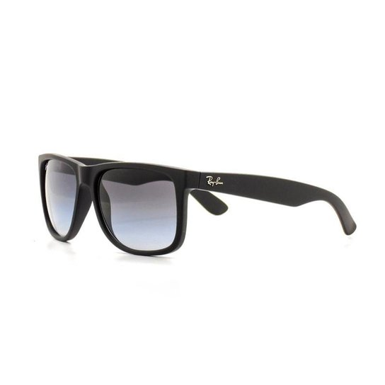 7be6dfa4e Óculos de Sol Ray Ban Justin Quadrado Proteção UV Masculino - Preto ...