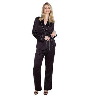 Pijama Inspirate Cetim Triplex Feminino cc6d2a4570617