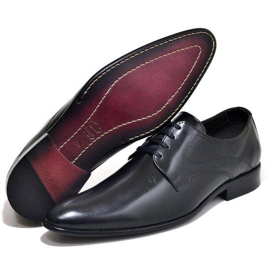 038bca7e62 Sapato Social Couro Top Franca Shoes Masculino - Preto