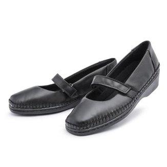 cdff58dae6 Sapato Conforto Couro Top Franca Shoes Feminino