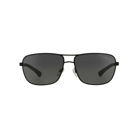 33cef4b4f28 Óculos de Sol Emporio Armani Retangular EA2033 Feminino - Preto ...