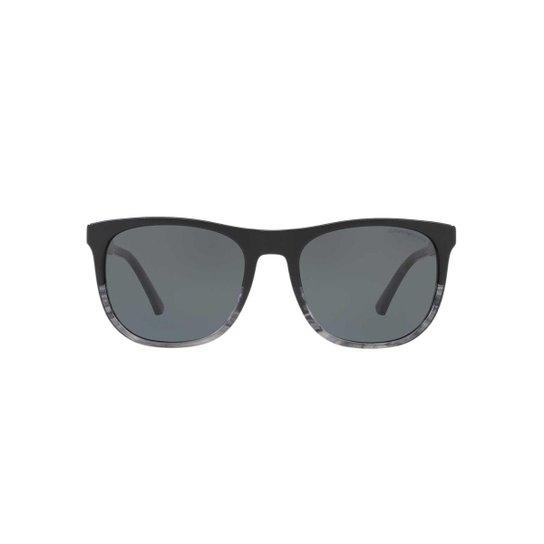 6cc9347cfae80 Óculos de Sol Emporio Armani Quadrado EA4099 Masculino - Preto ...