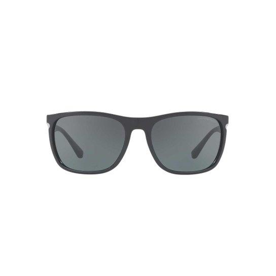 96acc5fbc63a6 Óculos de Sol Emporio Armani Retangular EA4107 Masculino - Preto ...