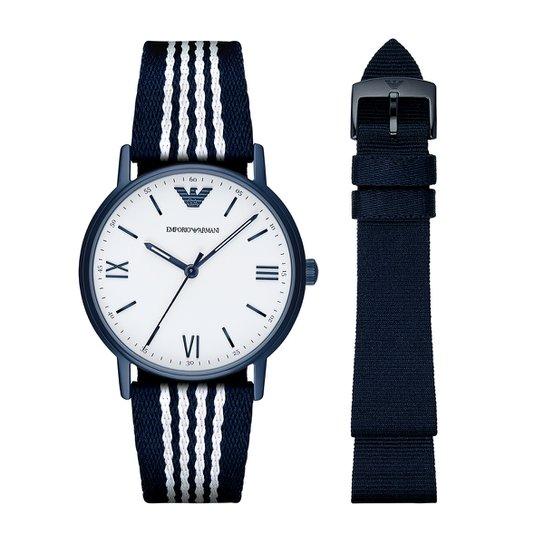 3ae7e9cf19 Relógio Emporio Armani Analógico AR800058BN Masculino - Marinho