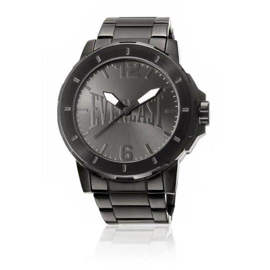 4d67651e7c Relógio Analógico Everlast E601 Cx e Pulseira Aço Masculino - Preto ...