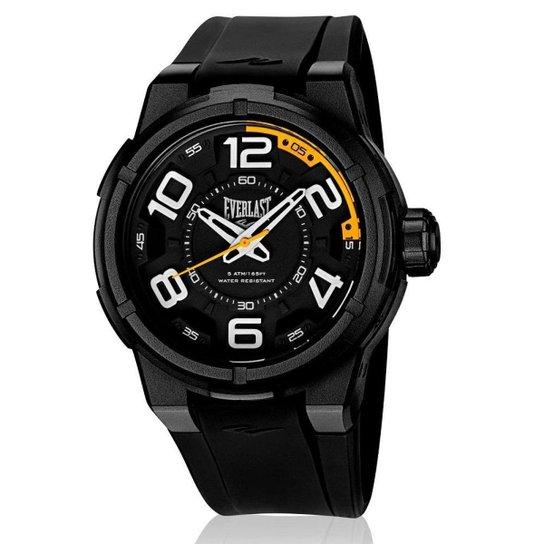 fe4b610d9f4 Relógio Pulso Everlast Torque E686 Caixa Abs Pulseira - Preto ...
