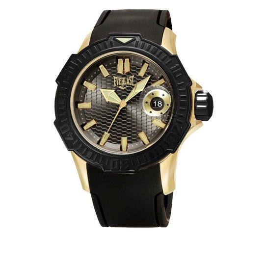 36a270169dd Relógio Pulso Everlast Com Pulseira Em Silicone E578 - Preto ...