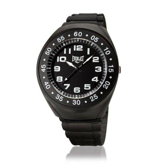 4447f0e30d2 Relógio Pulso Everlast Com Pulseira Em Pu E3031 Masculino - Preto ...