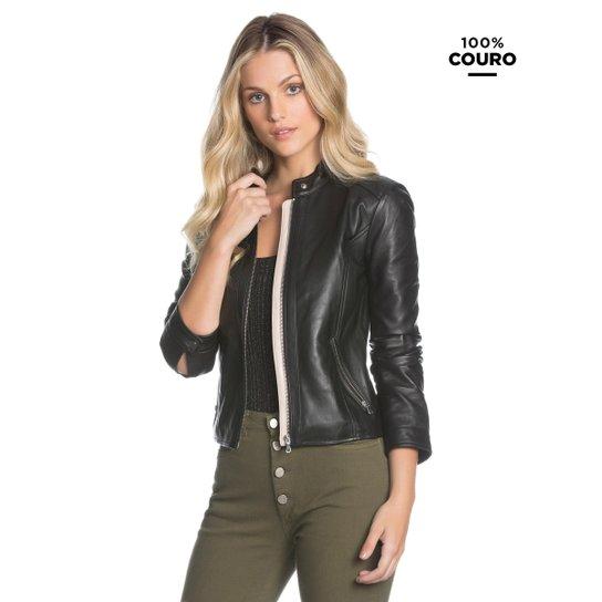 392c789231e97 Jaqueta Amaro Couro Essential - Preto - Compre Agora