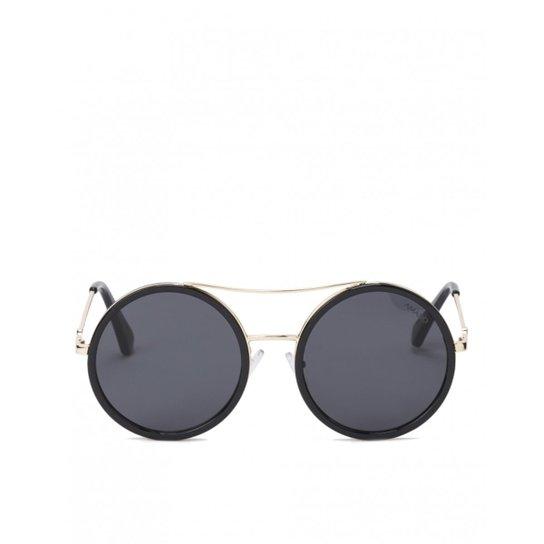 Óculos Amaro De Sol Redondo Detalhe Metal Feminino - Compre Agora ... 23a8d3e78a