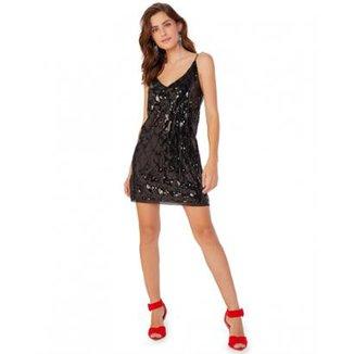 aed7889686 Vestido Amaro Paetê Feminino