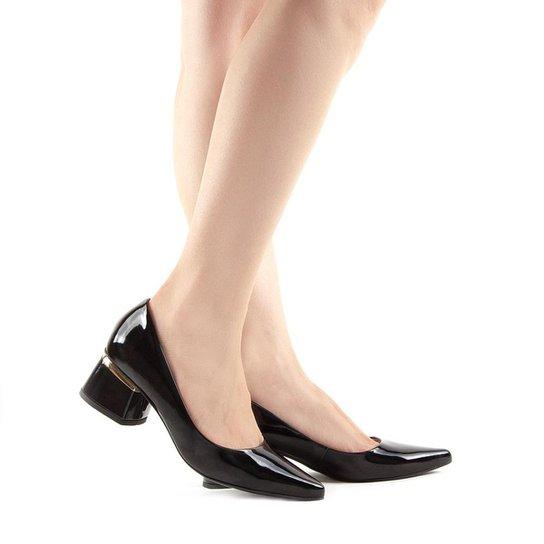 01f4621522 Scarpin Camminare Salto Grosso - Compre Agora | Zattini