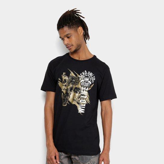 815a9067ca Camiseta Ecko Estampada Wild Life Masculina - Preto - Compre Agora ...