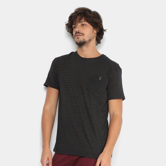 52fb7aaf8 Camiseta Reserva Poá Bolso Contraste Masculina - Preto - Compre ...