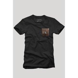 Camiseta Bolso Xadrez Quadrilha Reserva Masculina 887ba25ef03