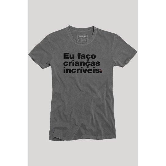 Camiseta Faço Crianças Incríveis Reserva Masculina - Preto - Compre ... 953f2f0915