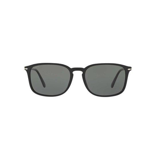 f040023893824 Óculos de Sol Persol Retangular PO3158S Masculino - Preto - Compre ...