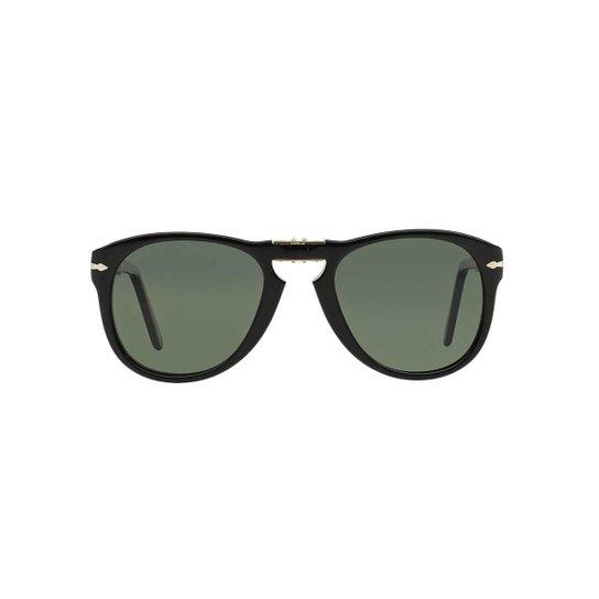 d287a3d0833a7 Óculos de Sol Persol Piloto PO0714 Dobrável Masculino - Preto ...