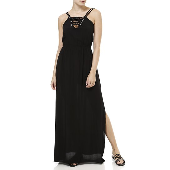 d885318b3 Vestido Longo Feminino Preto - Compre Agora | Zattini