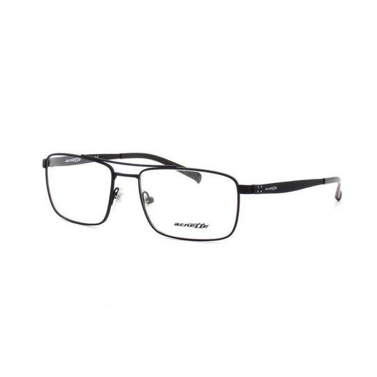 40c0704ba6e79 Armação De Óculos De Grau Arnette 6119 T 55 C 696 Metal Masculino - Preto