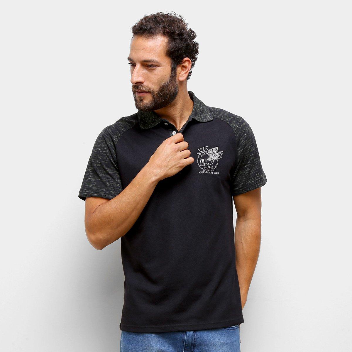 Camisa Polo HD Raglan Masculina