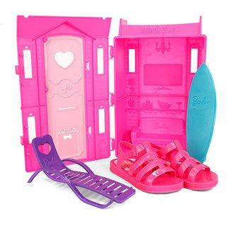 caa62d1e0 Sandália Infantil Grendene Barbie + Brinquedo