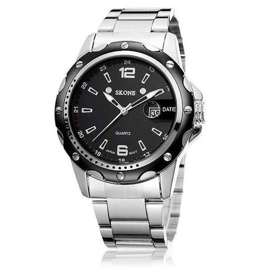 cbaf1d48003 Relógio Skone Analógico 7147BG - Preto - Compre Agora