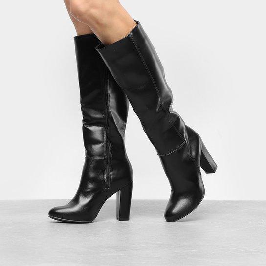 76f9ee8959 Bota Over The Knee VIA UNO Salto Grosso Preta em 2019 sapatos