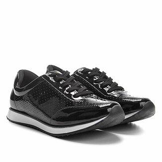 6ac46550c46 Tênis Jogging em Verniz Via Uno com Laser Cut Feminino