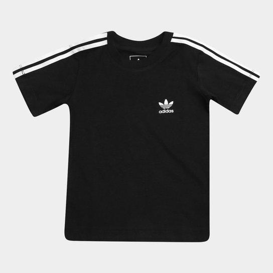 500da4438ae Camiseta Adidas 3 Stripes Infantil - Compre Agora