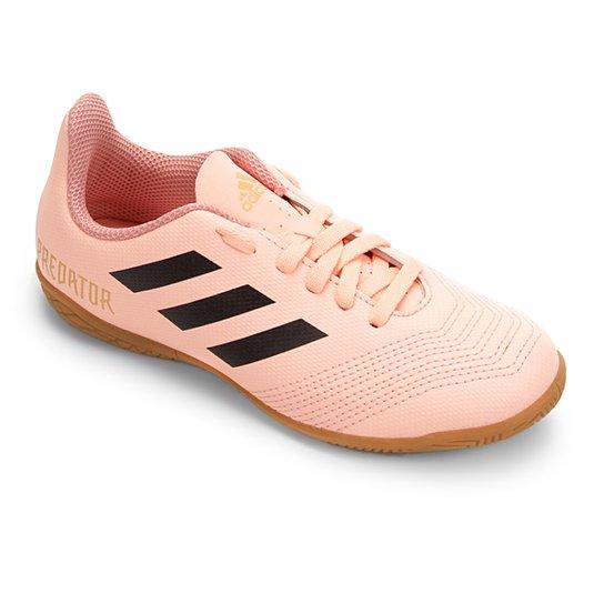 0c153b9404 Chuteira Futsal Infantil Adidas Predator 18 4 IN - Rosa+Preto