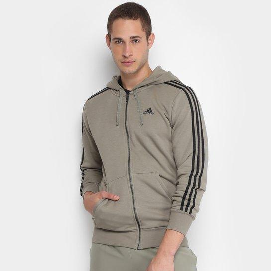 138639fb541 Jaqueta de Moletom Adidas Ess 3S Fz Ft Masculina - Preto - Compre ...
