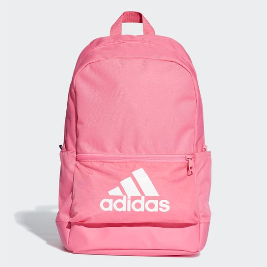 1c1e7b4fe29a3 Mochila Adidas Classic BackPack Bos - Rosa+Branco