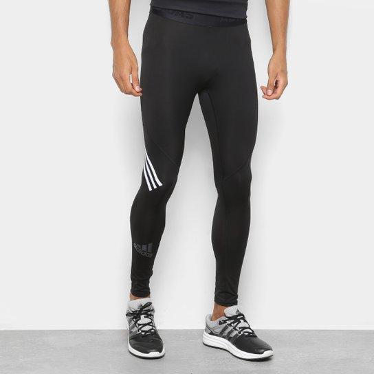 Calça Legging Adidas Alphaskin Sport 3 Stripes Masculina - Preto ... 537679ee2a676