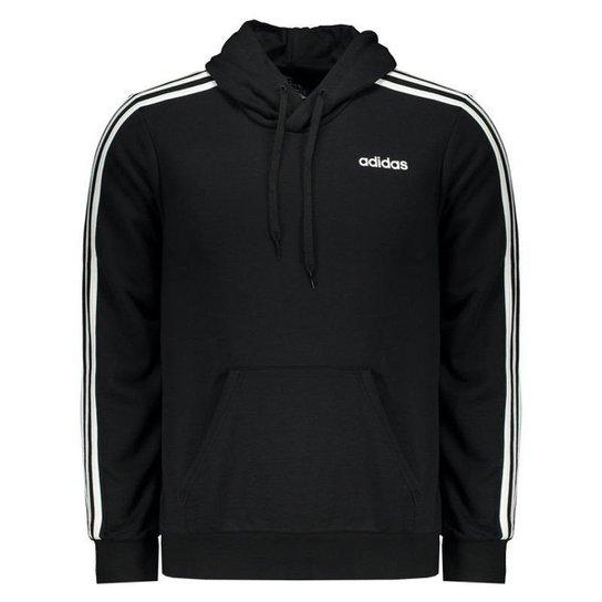 5d765f87b602c Moletom Adidas Essentials 3 Stripes - Preto - Compre Agora