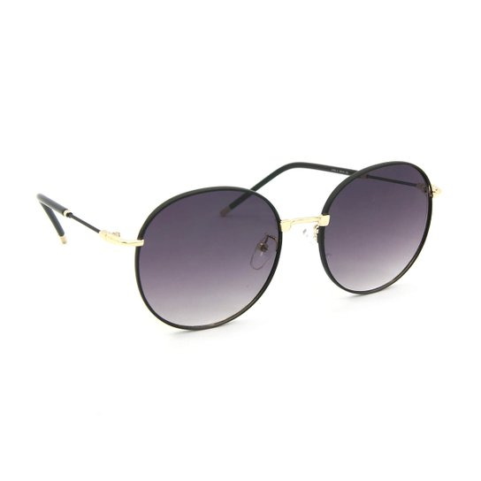 6155c0019707e Óculos de Sol Classic Redondo - Preto - Compre Agora   Zattini