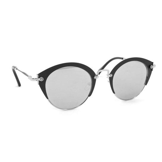166d815051d65 Óculos de Sol Glamorous com Lente Espelhada - Preto - Compre Agora ...