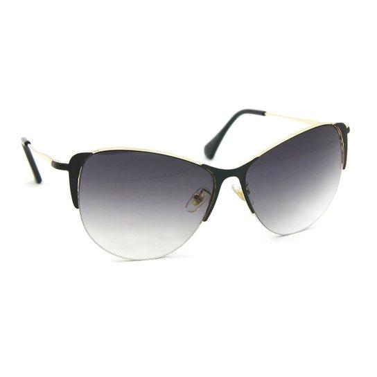 245e093c911c4 Óculos de Sol Gatinha Glamour Lente Degradê - Preto - Compre Agora ...