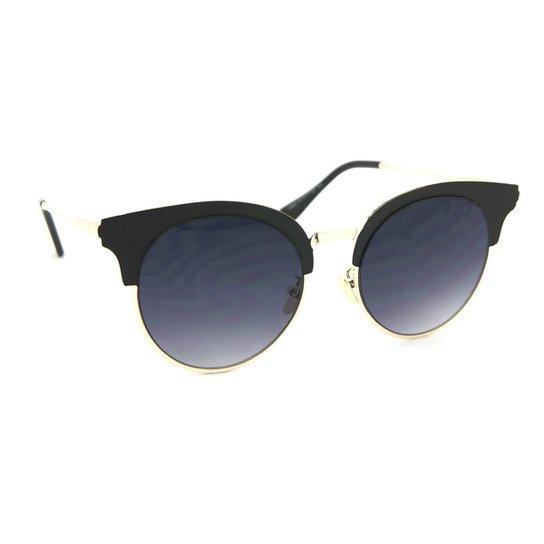 14350207a Óculos de Sol Redondo Gatinha Style Fosco - Preto | Zattini