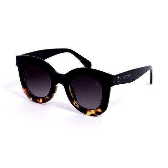 5aae44382 Óculos Bijoulux de Sol Grande Retrô - Preto | Zattini