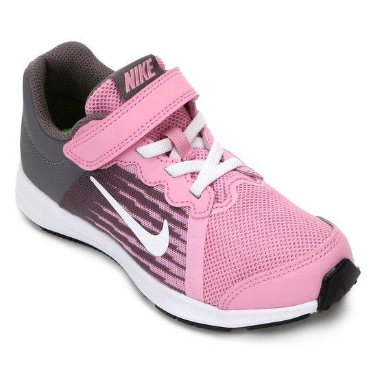 54fc88ccc8a Tênis Infantil Nike Downshifter 8 Feminino - Rosa e Branco - Compre ...